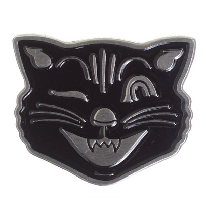 Sourpuss Black Cat Lapel Pin - Cobalt Heights