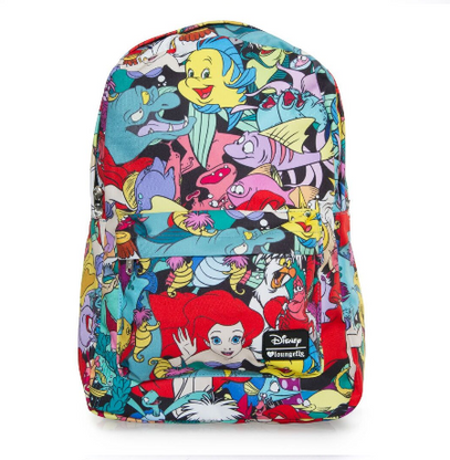 Loungefly X Disney The Little Mermaid Characters Backpack - Cobalt Heights
