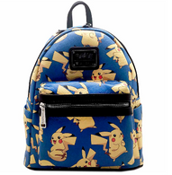 Loungefly X Pokemon Blue Pikachu Mini Backpack - Front - Cobalt Heights