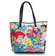 Loungefly X Disney The Little Mermaid Characters Tote Handbag - Cobalt Heights