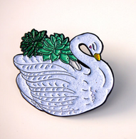 Hungry Designs Succulent Swan Lapel Pin - Cobalt Heights