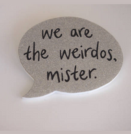 Hungry Designs We Are The Weirdos Brooch - Silver - Cobalt Heights