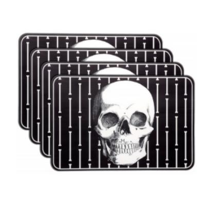 Sourpuss Skull PVC Placemat Set - Cobalt Heights