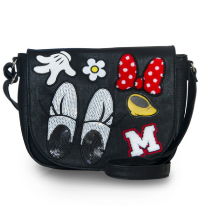Loungefly X Disney Minnie Patches Crossbody Bag - Cobalt Heights