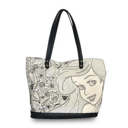 Loungefly X Disney Ariel Seashells Tote Handbag - Cobalt Heights