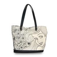 Loungefly X Disney Ariel Seashells Tote Handbag - Cobalt Heights