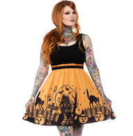 Sourpuss Haunted House Dress - Cobalt Heights