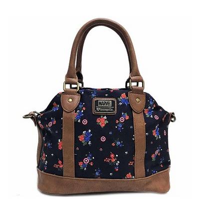 Loungefly X Marvel Captain America Floral Handbag - Cobalt Heights