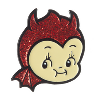 Sourpuss Devil Kewpie Lapel Pin - Cobalt Heights