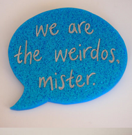 Hungry Designs We Are The Weirdos Brooch - Blue - Cobalt Heights