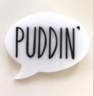 Hungry Designs Puddin Speech Bubble Brooch - Cobalt Heights