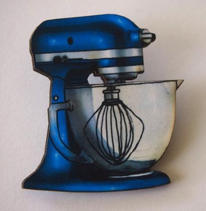 Hungry Designs Blue Mixer Brooch - Cobalt Heights
