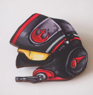 Hungry Designs Poe Dameron Helmet Brooch - Cobalt Heights