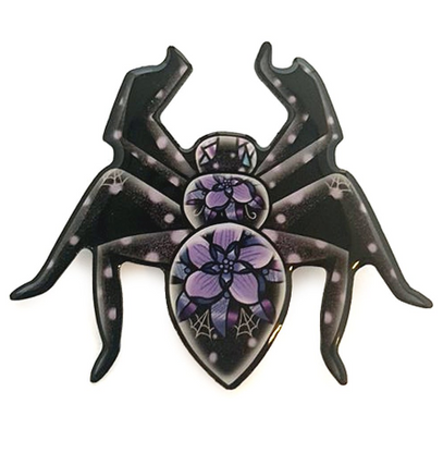 Jubly Umph Lady Longlegs Spider Brooch - Cobalt Heights