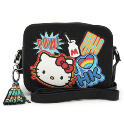 Loungefly X Hello Kitty Bright Rainbow Cross Body Bag - Cobalt Heights
