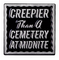 Sourpuss Creepier Than A Cemetery At Midnight Lapel Pin - Cobalt Heights