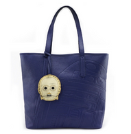 Loungefly X Star Wars R2D2 and C3PO Embossed Tote - Cobalt Heights