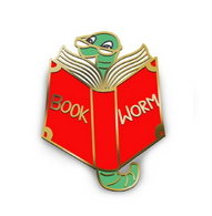Jubly Umph Bookworm Lapel Pin - Cobalt Heights