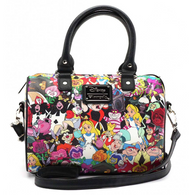 Loungefly X Disney Alice In Wonderland Characters Pebble Handbag - Cobalt Heights