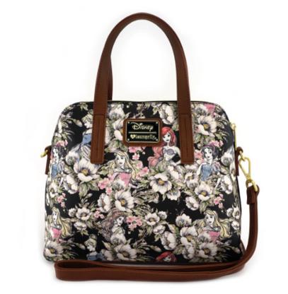 Loungefly X Disney Princess Floral Handbag - Cobalt Heights
