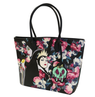 Loungefly X Disney Villains Floral Tote Handbag - Cobalt Heights