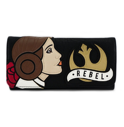Loungefly X Star Wars Leia Rebel Trifold Wallet - Cobalt Heights