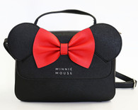 Loungefly X Disney Minnie Mouse Ears Crossbody Purse - Cobalt Heights