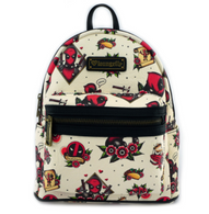 Loungefly X Marvel Deadpool Flash Tattoo Mini Backpack - Cobalt Heights