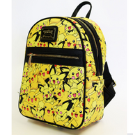 Loungefly X Pokemon Pikachu and Pichu Mini Backpack - Side - Cobalt Heights