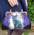 Jubly Umph Limited Edition Purse - Lucky Black Tomcat - In Action - Cobalt Heights