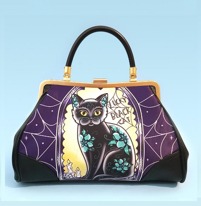 Jubly Umph Limited Edition Purse - Lucky Black Tomcat - Cobalt Heights