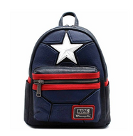 Loungefly X Marvel Captain America Cosplay Mini Backpack - Cobalt Heights