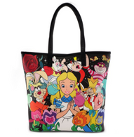 Loungefly X Disney Alice Characters Double Sided Tote Handbag - Cobalt Heights
