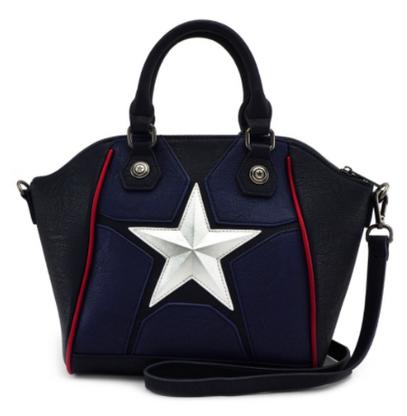 Loungefly X Marvel Captain America Cosplay Tote Handbag - Cobalt Heights