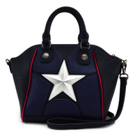 Loungefly X Marvel Captain America Cosplay Tote Handbag - Cobalt Heights