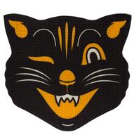 Sourpuss Black Cat Rug  - Cobalt Heights