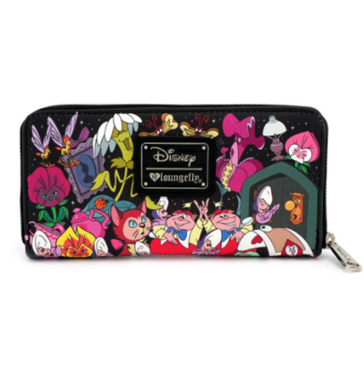 Loungefly X Disney Alice Characters Double Side Wallet - Back - Cobalt Heights