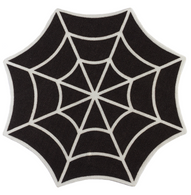 Sourpuss Spiderweb Rug - Cobalt Heights