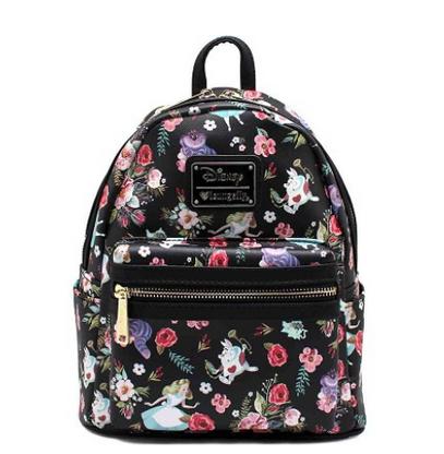 Loungefly X Disney Alice In Wonderland Black Mini Backpack - Cobalt Heights