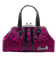 Sourpuss Leopard Temptress Purse - Magenta - Cobalt Heights
