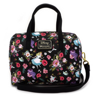 Loungefly X Disney Alice in Wonderland Black Handbag - Cobalt Heights