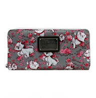 Loungefly X Disney Marie Grey Floral Wallet - Cobalt Heights