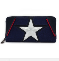 Loungefly X Marvel Captain America Cosplay Wallet - Cobalt Heights
