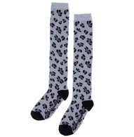 Sourpuss Leopard Print Knee High Socks - Grey - Cobalt Heights