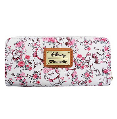 Loungefly X Disney White Marie Floral Wallet - Cobalt Heights