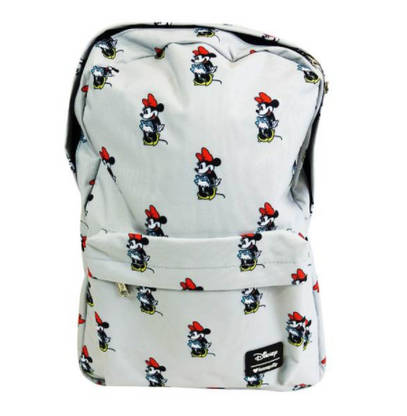 Loungefly X Disney Minnie Mouse Print Backpack - Back To School Bundle - Cobalt Heights