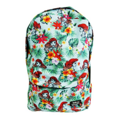 Loungefly X Disney The Little Mermaid Floral Backpack - Back To School Bundle! - Cobalt Heights