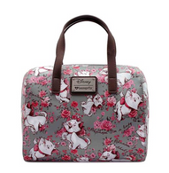 Loungefly X Disney Grey Marie Floral Handbag - Cobalt Heights