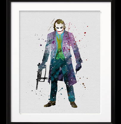 Watercolour Inspired Why So Serious Print - Cobalt Heights