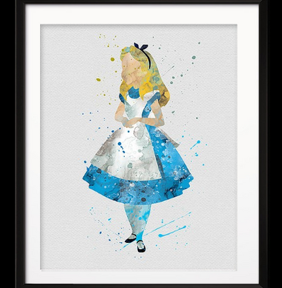 Watercolour Inspired Alice Print - Cobalt Heights